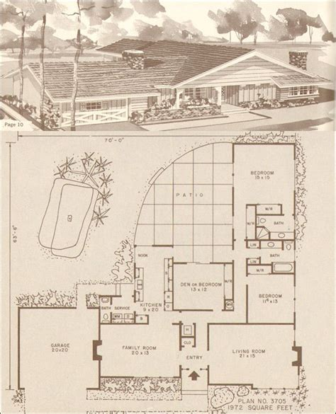 1960s ranch house plans mid century modern rustic ranch style house design no