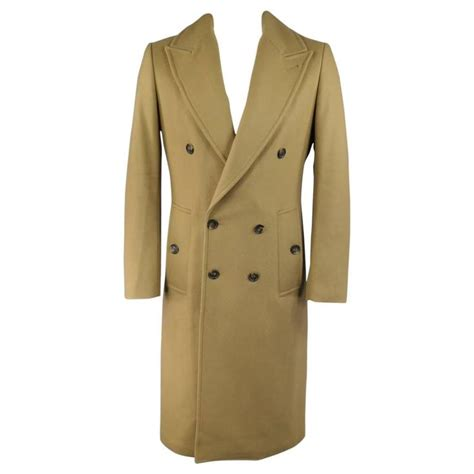 breasted lapel coat s michael kors 40 camel wool blend breasted