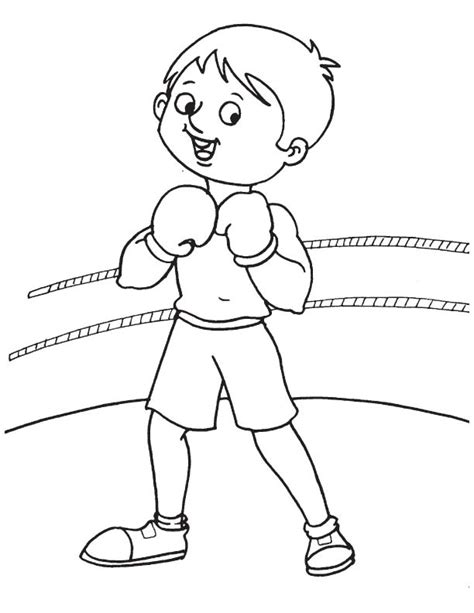 Boxing Ring Coloring Pages Boxer Coloring Pages