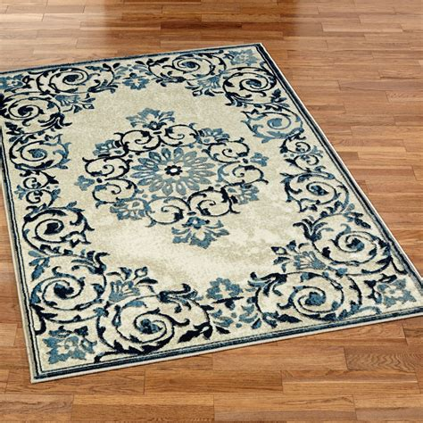 touch of class rugs blooming scrolls floral medallion area rugs
