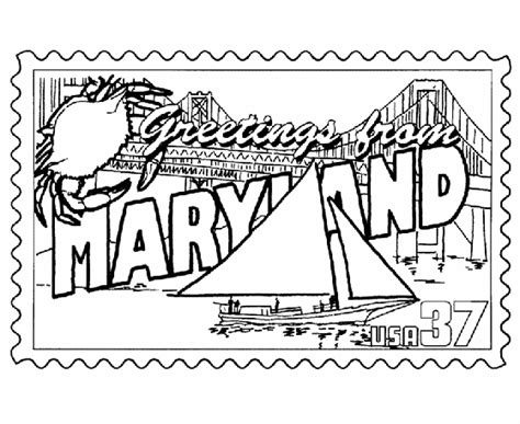 Maryland Coloring Pages maryland state st coloring page happy maryland day