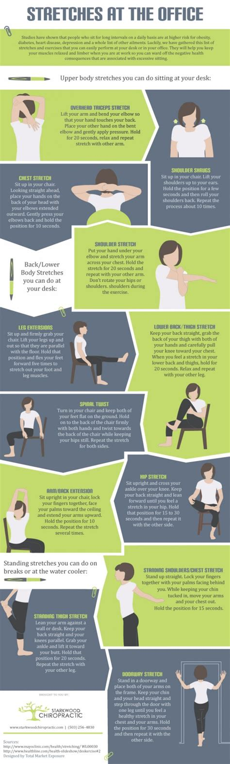 stretch at your desk 12 stretch exercises you can do at your desk infographic