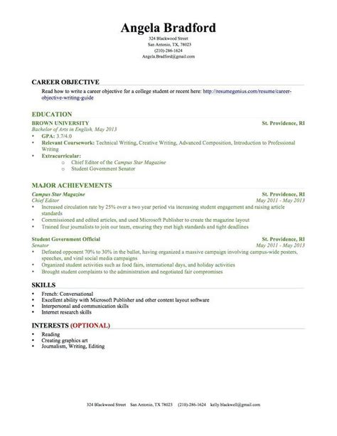 Resume With No Experience by High School Student Resume Templates No Work Experience