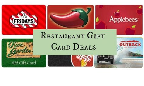 Gift Cards Deals - restaurant gift card deals outback ruby tuesdays more southern savers