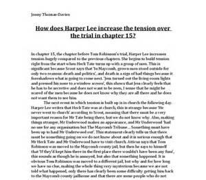 To Kill A Mockingbird Essay Prompts by To Kill A Mocking Bird Essay Helpessay287 Web Fc2