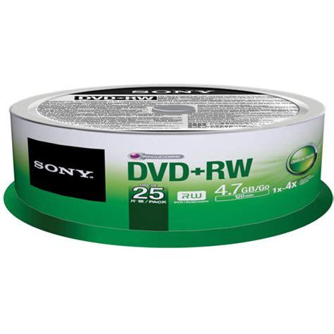 Dvd Rw 4 Gb sony dvd rw 4 7 gb recordable discs 25dpw47sp b h photo