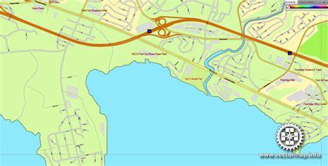 printable map honolulu honolulu oahu hawaii printable vector street map exact