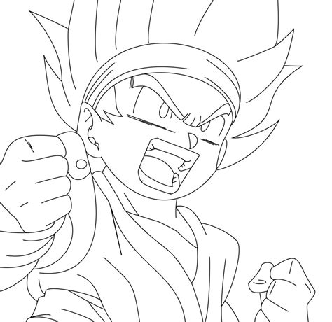 Free Coloring Pages Kid Goku Coloring Pages