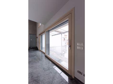 porta complanare porta finestra scorrevole complanare in alluminio e legno