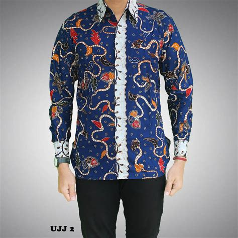 Kemeja Batik Pria Murah Kode Rkr01 kemeja batik pria lengan panjang kode ujj 2 batik prasetyo