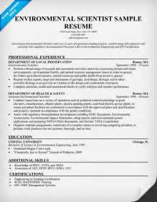 resume format resume exles environmental science