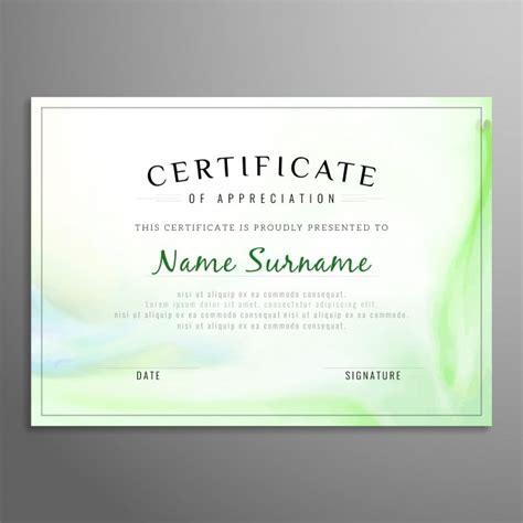 free certificate of appreciation template downloads green certificate of appreciation template vector free