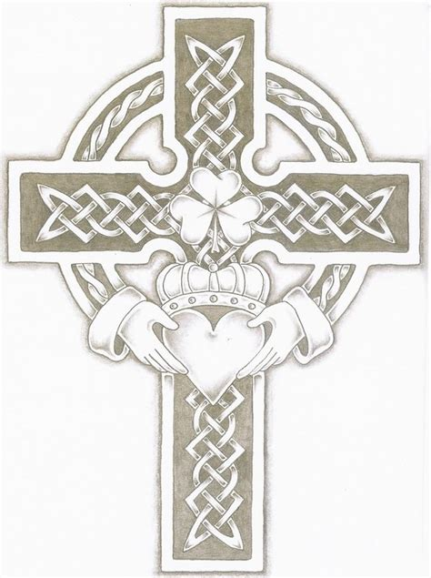 claddagh cross by adumb on deviantart