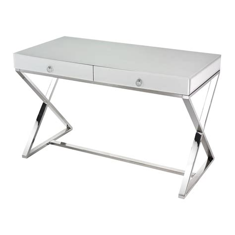 White Glass Desk 1141105 Destination Lighting Glass White Desk