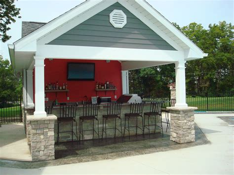 pool house with bar outdoor living kirk wylie masonry