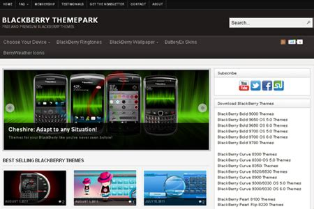 blackberry themes mobile9 13 websites to download free blackberry themes blueblots com