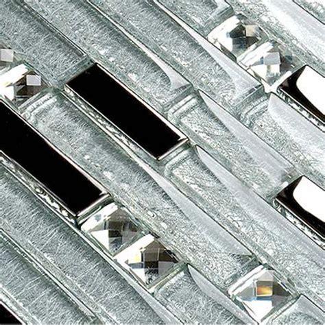 Interlocking mosaic tile backsplash diamond Tiles crystal