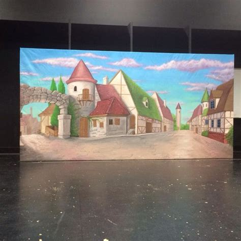 beauty and the beast village set village backdrop beauty the beast theater sets props