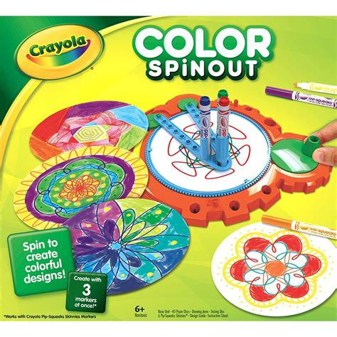 spin color crayola color spinout marker activity