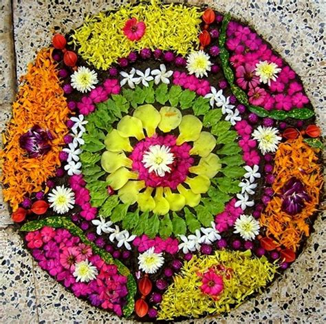 Home Decorating Ideas For Diwali by 38 Onam Pookalam Designs To Adorn Your Homes This Onam 2017