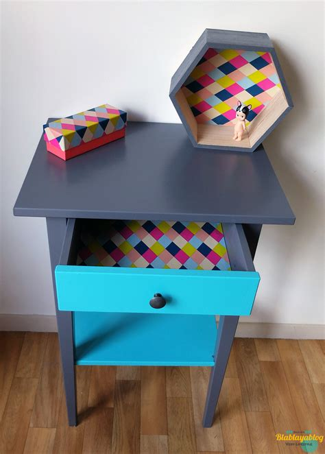 Beau Papier Adhesif Pour Meuble #1: Meuble-Ikea-relooke-DIY.jpg