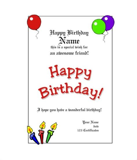 gift card templates free pdf free customizable birthday gift certificate template