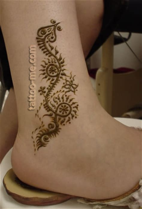 henna tattoo vine designs ankle henna