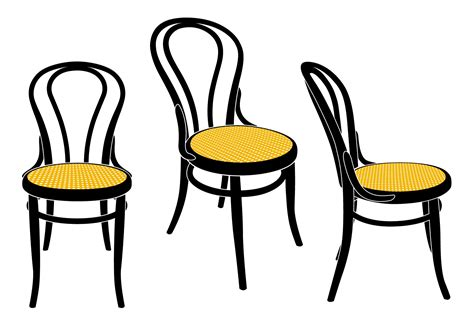 Chair Illustration by Classic Furniture Design Michael Thonet Bentwood Furniture