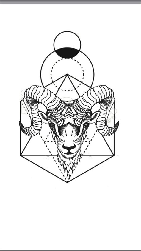 geometric tattoo flash best geometric tattoo geometric animal tattoo aries ram