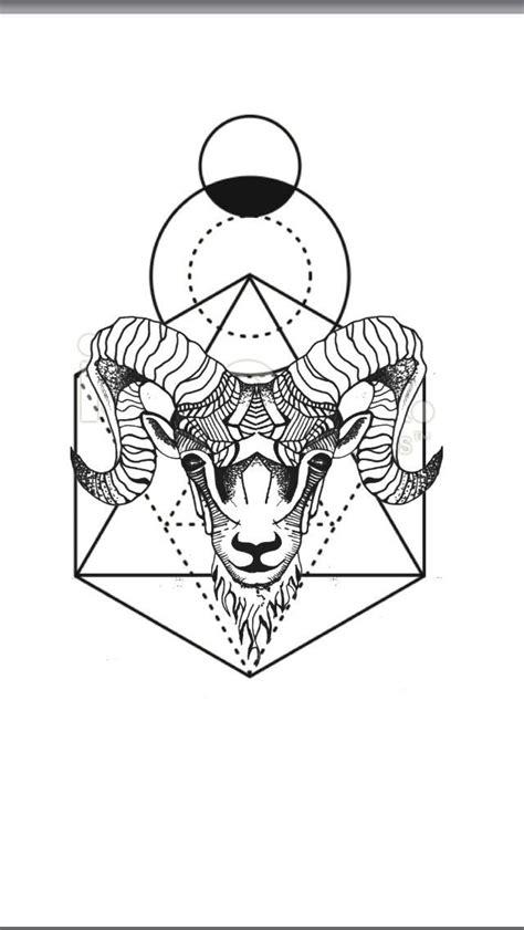 geometric zodiac tattoo best geometric tattoo geometric animal tattoo aries ram