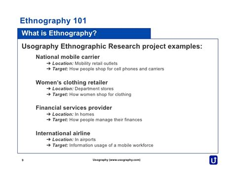 Ethnographic Essay Introduction by Ethnography 101 By Usography
