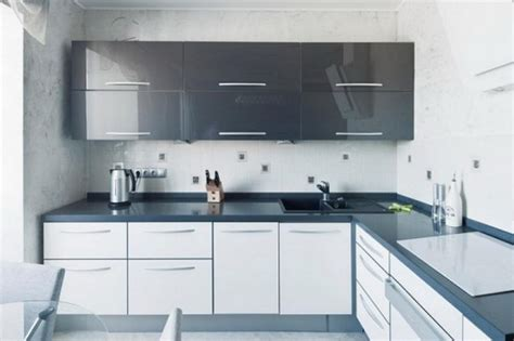 Kitchen Tile Backsplash Ideas With White Cabinets by L Shaped Kitchen Interior Design Homedizz