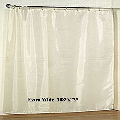 extra wide shower curtain liner 92 extra wide fabric shower curtain liner 108 quot x72 quot marburn