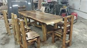 black walnut kitchen table custom black walnut kitchen table by meyers log furniture
