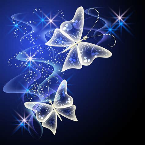 imagenes de mariposas q brillan fantasy butterflies with background vector graphics 02