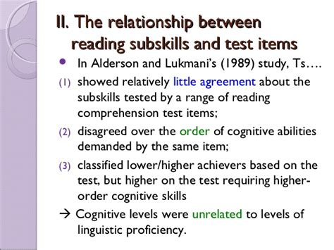 reading comprehension test tips sub skills in reading comprehension tests