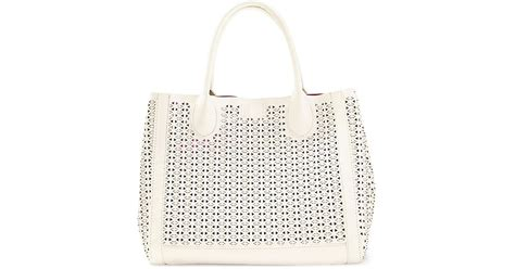Tote Bag Whoopees 5019 steve madden bweavie pvc woven tote in white lyst