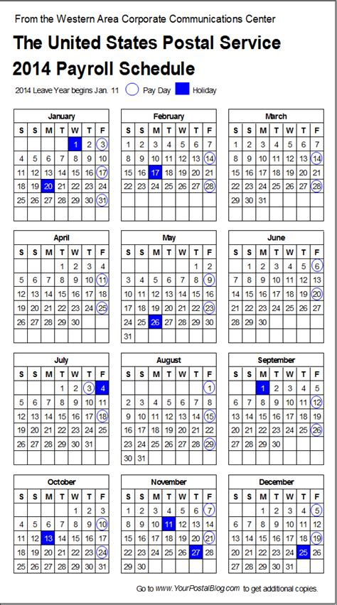 how to make a period calendar 2014 postal payroll calendar your postal