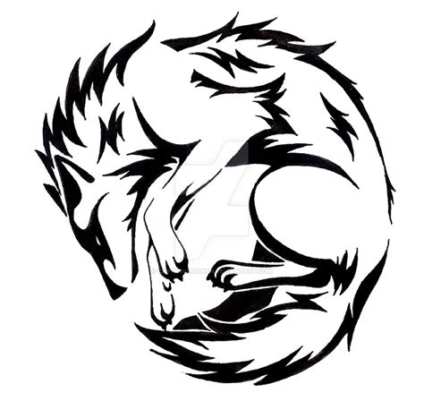 circle wolf tattoo by captainmorwen on deviantart