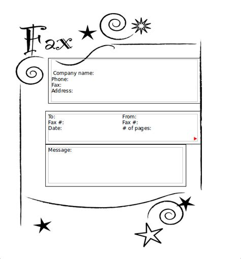 Cute Printable Fax Cover Sheets | sle cute fax cover sheet 7 documents in pdf word