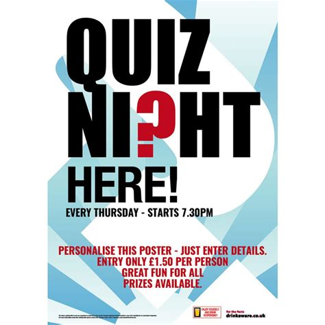 trivia poster template quiz poster promote your pub