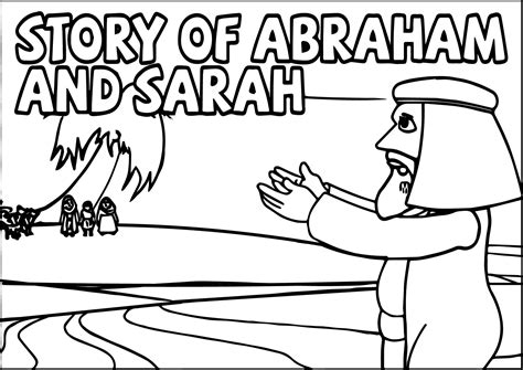 printable coloring pages abraham and sarah story abraham and sarah coloring page wecoloringpage