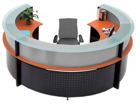 semi circular reception desk semi circular glass top reception desk