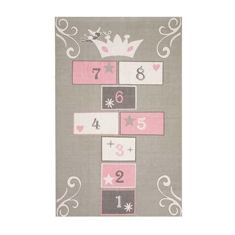 tappeto bambini tappeto grigio rosa in cotone per bambini con gioco di