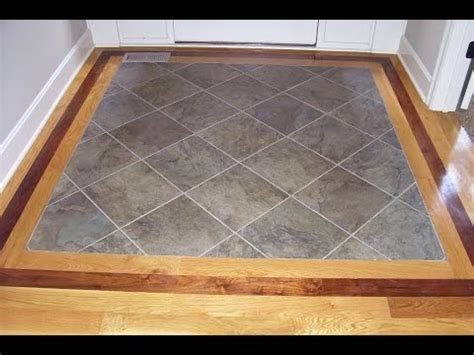 Hardwood Floor with Tile Inlay at Entryway   YouTube