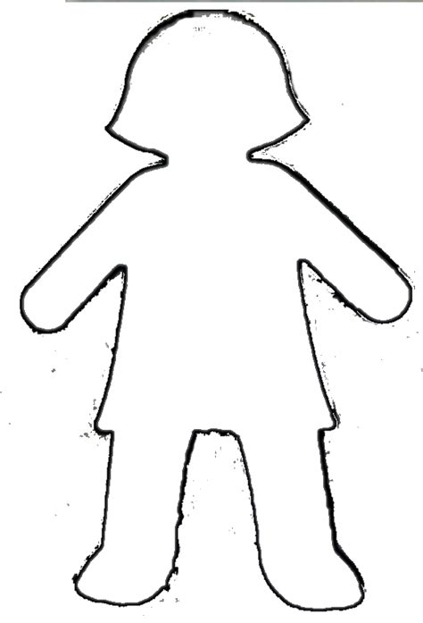 doll cut out template best photos of boy outline pattern outline template