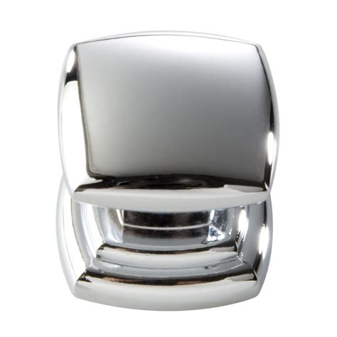 chrome cabinet door knobs shop hickory hardware contemporary chrome square