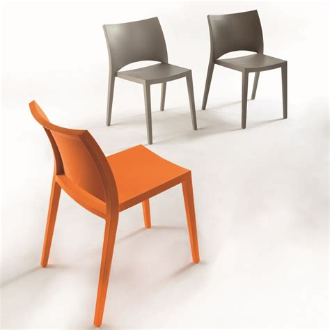sedia impilabile sedia impilabile in polipropilene colorato aqua arredaclick