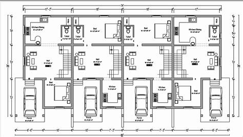 row house plan 37 beautiful duplex floor plans with garage home idea