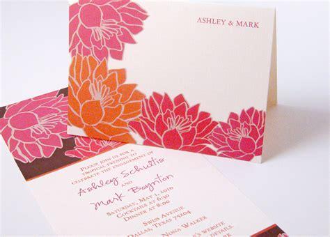 Orange Theme Wedding Invitations by Invitations For A Wedding